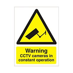 Warning CCTV In Operation 150 x 200mm