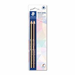 Staedtler Noris Jumbo 2B Graphite Pencils Pack of 2