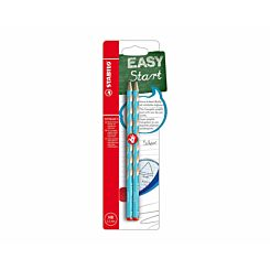 STABILO EASY Graph S HB Pencil for Right-Handed Pack of 2 Blue