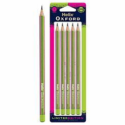 Helix Oxford Clash Pencils Pack of 5 Pink