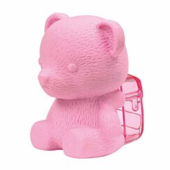 Westcott 3D Animal Eraser With Sharpener Pink