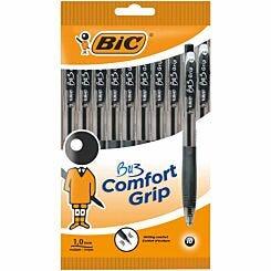 BiC Comfort Grip Ballpoint Pen Pack of 10