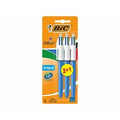 BiC 4 Colours Original Pack of 2 plus 1 Free