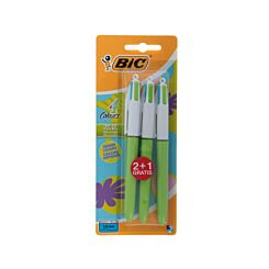 BiC 4 Colours Fun Pack of 2 plus 1 Free