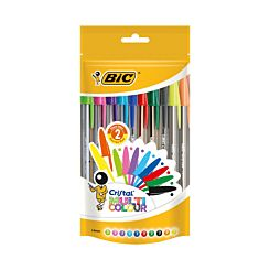 BiC Cristal Ballpoint Pens Assorted Pack of 20