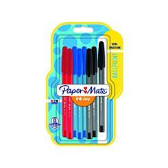 Paper Mate Inkjoy 100 Ball pen Pk8 Standard Assorted