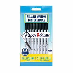 Papermate Ballpoint Pen 1.0mm Pack of 8