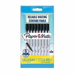 Papermate Ballpoint Pen 1.0mm Pack of 8 Black