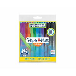 Paper Mate Inkjoy Fun Ballpoint Pens Pack of 27
