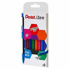 Pentel iZee Retractable Ballpoint Pens Pack of 8 Assorted