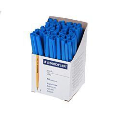 Staedtler 430 Ballpen Fine Box of 50 Blue