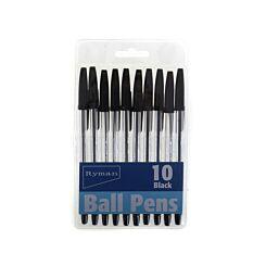 Ryman Stick Ballpens Pack of 100 Black