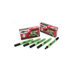 Show-me Slim Barrel DryWipe Medium Point Black Pack of 10