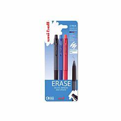 Uni-Ball UF-222-07 Erasable Gel Pens BBR Pack of 3