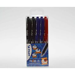 Pilot Frixion Rollerball Pen Wallet of 5 Standard Colours