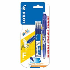 Pilot Frixion Rollerball Erasable Pen Fine with Refills Blue