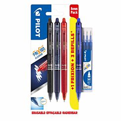 Pilot Frixion Clicker Pen Bonus Pack with Refills
