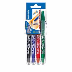 Pilot Frixion Erasable Rollerball Pens Pack of 4 Assorted
