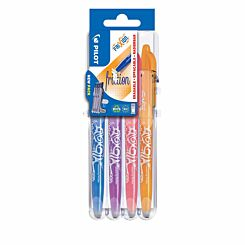 Pilot Frixion Erasable Rollerball Pens Pack of 4 Fun Colours