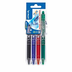 Pilot Frixion Clicker Erasable Rollerball Pens Pack of 4 Assorted
