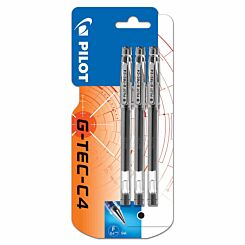 Pilot G-Tec C4 Rollerball Pen 0.4mm Pack of 3