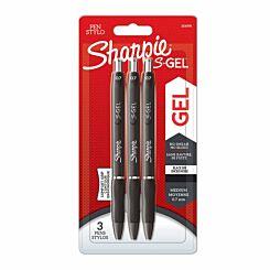 Sharpie S Gel Pens Pack of 3 Black Black