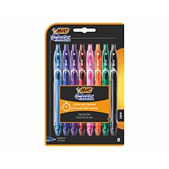 BiC Gelocity Gel Pens Pack of 8 Assorted