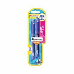 Paper Mate Inkjoy Gel Pens Capped Pack of 2 Blue