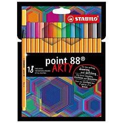 STABILO Point 88 ARTY Wallet of 18