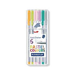 Staedtler Triplus Fineliner Pack Of 6 Pastel