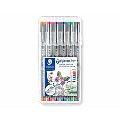 Staedtler Pigment Liner Pens Pack of 6