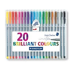 Staedtler Triplus Fineliner Pen Pack of 20