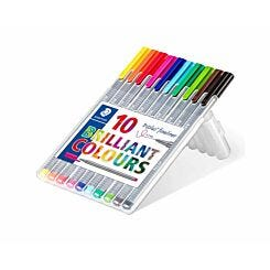 Staedtler Triplus Fineliner Pen Pack of 10