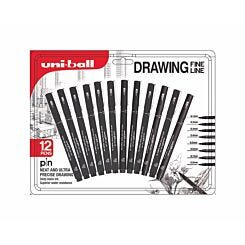 Uni-ball PIN Drawing Pens Pack of 12