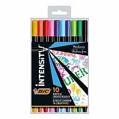 BiC Intensity Fineliner Pens 0.4mm Pack of 10