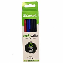 Luxor ecowrite Fineliners Pack of 4 Assorted