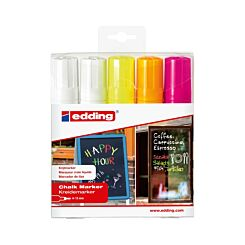 Edding Chalk Markers Fluorescent Pack of 5