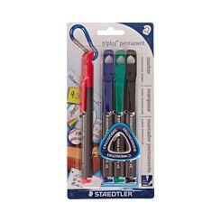Staedtler Triplus Permanent Markers Pack of 4