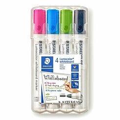 Staedtler Lumocolor Whiteboard Markers Pack of 4 Assorted