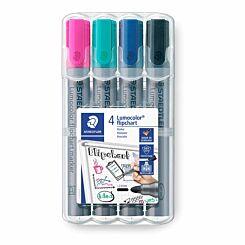 Staedtler Lumocolor Flipchart Markers Pack of 4
