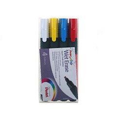 Pentel Chalk Marker Pack of 4 Chisel Tip Assorted Colours