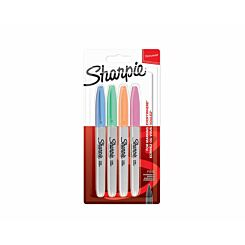 Sharpie Pastel Fine Permanent Markers Pack of 4