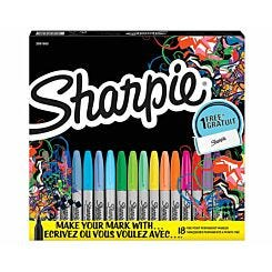 Sharpie Fine Permanent Markers Limited Edition Pack of 18 Assorted