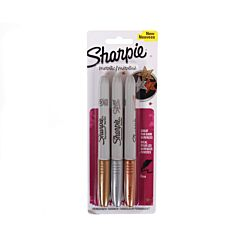 Sharpie Metallic Permanent Marker Pack of 3