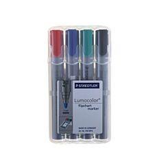 Staedtler Marker Pens Flipchart 2mm Bullet Tip Pack of 4