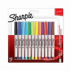Sharpie Ultra Fine Permanent Marker Pack of 12 Assorted