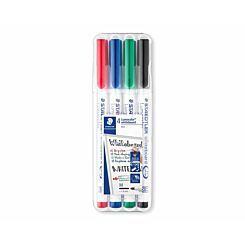 Staedtler Lumocolor Marker Pen Whiteboard Pack of 4