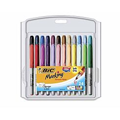 BiC Marking Collection of Permanent Marker Pens Pack of 24