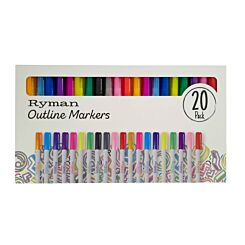 Ryman Outline Markers Box of 24