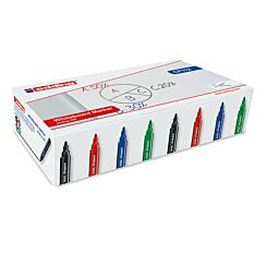 Edding 366 Drywipe Markers 4 Assorted Colours Box of 100 Round Tip